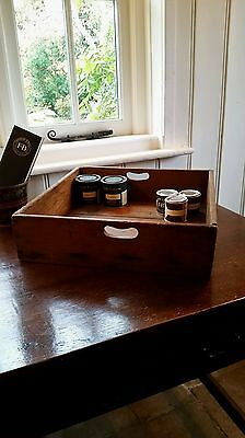 Original Antique Haberdashery Wooden Drawer Rustic Prop Storage Shop Box