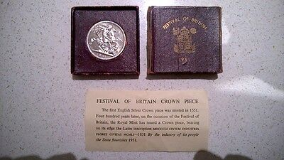 George VI Festival of Britain Crown coin 1951 English Crown uncirculated