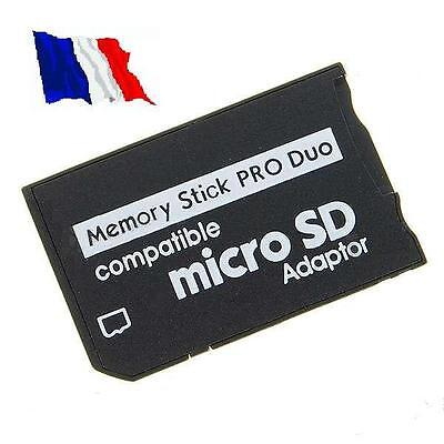 Adaptateur Memory Stick Pro Duo pour MicroSD / TF - PSP Sony