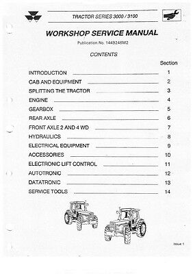 Massey Ferguson MF3000series Tractor Workshop Manual CD