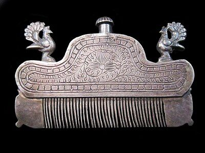 Beautiful Rare Collectible Antique Silver Perfume Bottle And Comb In One!!! • CAD $255.14