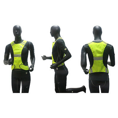 Fluorescent Yellow Visibility Reflective Vest Security Night Work Cloths