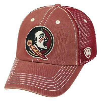 online store e217e 4c337 Florida State Seminoles NCAA Top of the World Crossroad Adjustable Mesh  Back Hat