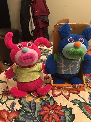 New The Sing-A-Ma-Jigs! Lot Pink Pink Holidays Skinnamarink Dark Blue Toy