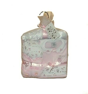 Just Too Cuddly 5 Piece Layette Gift Set In Pink