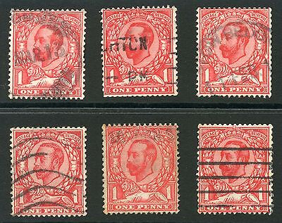 GB KG5 DOWNEY HEADS GOOD USED SG336 FROM BOOKLETS 6 stamps cv £180...L2