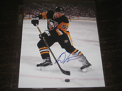 "DERRICK POULIOT autographed PITTSBURGH PENGUINS 8X10 ""RETRO JERSEY"" photo L@@K!"