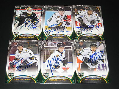 CLIFF PU autographed '15/16 LONDON KNIGHTS team card  BUFFALO SABRES