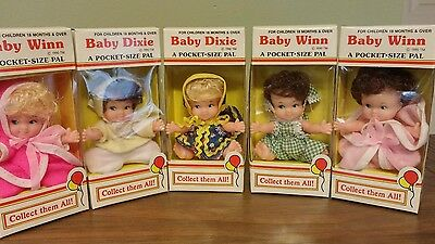 Vintage 1990 Winn Dixie Supermarket Baby Dolls Baby Winn Baby Dixie Lot of 5