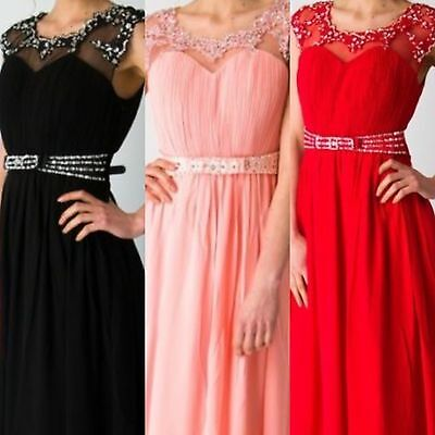 Party Evening Dress Formal Uk Cocktail Long Prom Bridesmaid Dresses Gown Womens