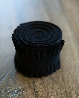 2.5 inch Pure Black Bella Solid Jelly Roll 100% cotton fabric quilting strips