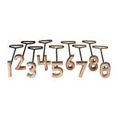"Freeze Branding Iron Brass Set 2"" Numbers Cattle Identification"