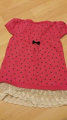 Pink dot top for girl aged 2 to 3