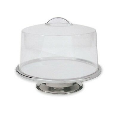 Cake Display Stand, 330 x 70mm, Stainless Steel, Plastic Cover, Moulded Handle