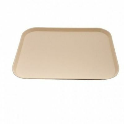12x Tray, Fast Food Style, Beige Polypropylene, Cafeteria, 300 x 400mm