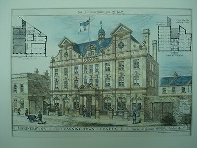 Mariners' Institute, Canning Town, East London, UK, 1882, Original Plan