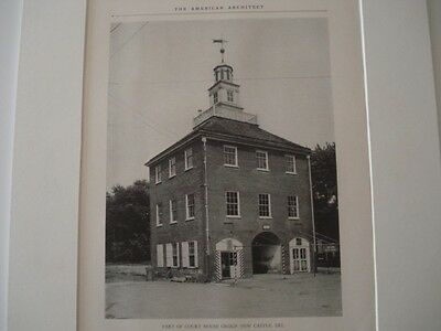 Part of Court House Group,  New Castle, Delaware  1927   Lithograph