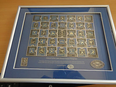 Sydney 2000 Olympic Games Pictograms Puzzle Framed Pin Set - No: 1987 / 5000