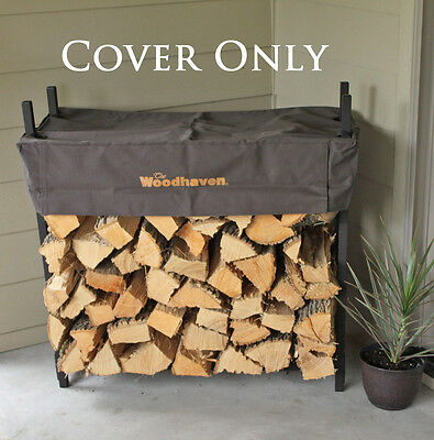 """Woodhaven Firewood Cover for 1/8 Cord 36"""" Rack Brown - Cover Only - MSRP $36.00"""