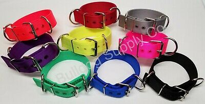 "2"" 3-Ply Nylon Treadmill Heavy Duty Dog Collar for Pit Bull & Large Breeds"