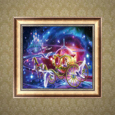 DIY 5D Diamond Embroidery Carriage Painting Cross Stitch Crafts Home Decor