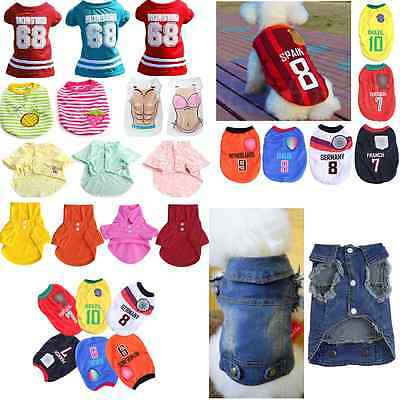 Summer Pet Puppy Small Dog Cat Pet Clothes Vest T Shirt Dress Apparel Various