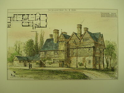 Woodhouse for Sir George Baker, Devon, UK, 1880, Original Plan