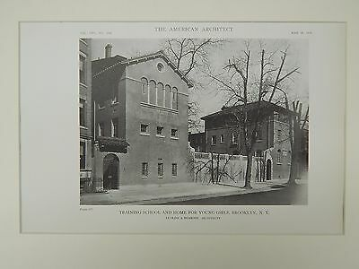 Training School and Home for Young Girls, Brooklyn, NY, 1919, Lithograph