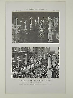 The Court of Nations, Syracuse, NY, 1919, Lithograph