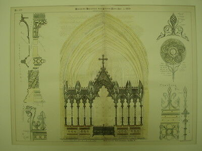 Memorial Rood Screen, Church of the Redeemer, Bryn Mawr, PA, 1885, Original Plan