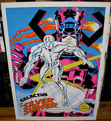 Vintage 1970 SILVER SURFER Marvelmania Poster Very Good Condition Jack Kirby