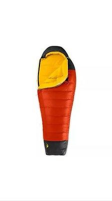 The North Face Gold Kazoo 40F Down Sleeping Bag Goose Down 650 Pro Right Reg
