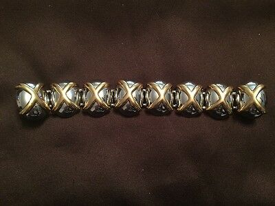Vintage Alexis Kirk Silver And Gold Tone Belt Buckle 1990's