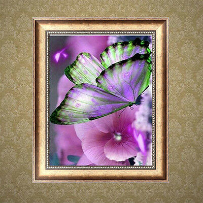 Butterfly Flowers DIY 5D Diamond Painting Embroidery Cross Stitch Home Decor