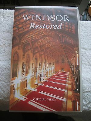 Windsor Restored: The Restoration Of Windsor Castle:  VHS Tape - FREE POST