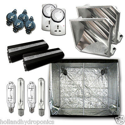 600W HPS MH Grow Lights DIGITAL Ballast diamond reflector Tent Hydroponics kit