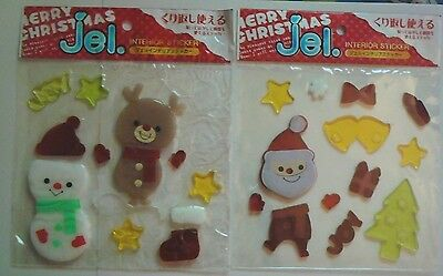 Christmas Gel Stickers for Windows & Mirrors -- 2 Packs