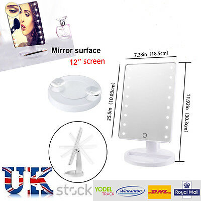 LED Make up Mirror Illuminated Cosmetic Mirror  with storage and lights