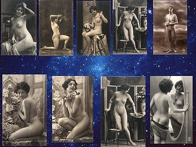550 Large Format Vintage Victorian Risque Nude Images On USB Ideal For Printing.