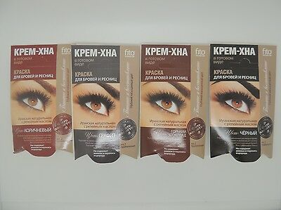 EYELASHES and EYEBROWS BLACK or BROWN Henna Hair Dye Balm Tint Ready to Use