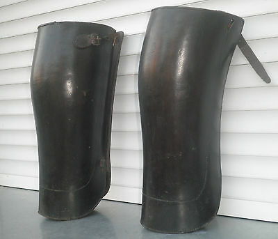 WWI WWII army officers leather calf gaiters  Serbia  uniform
