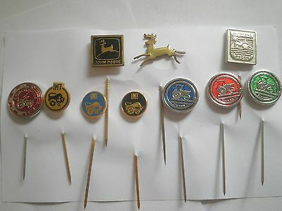 TRACTOR JOHN DEERE,IMT Yugoslavia pin badge lot10 agriculture vehicle harvester
