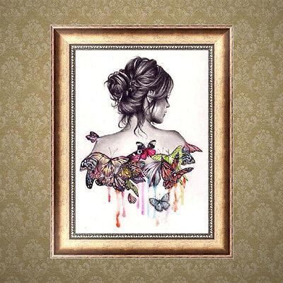 DIY 5D Diamond Painting Butterfly Beauty Embroidery Cross Stitch Home Decor