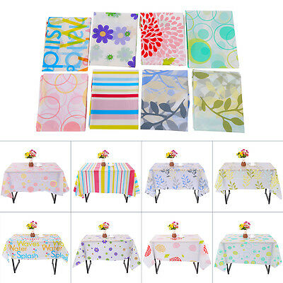 130x180cm PVC Table Cloth Plastic Waterproof Oil Proof Dining Tablecloth Home GW