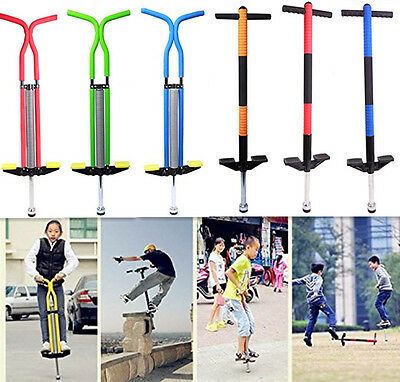 Xmas Gifts Pogo Stick Kids Indoor Outdoor Fun Powered Pro Jump Spring Bounc Toys