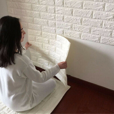 3D DIY Foam Brick Waterproof Wall Sticker Self-adhesive Panel Decal Wall Sticker