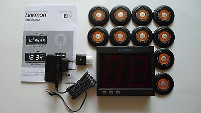 LINKMAN Wireless Restaurant Waiter Service Calling Systems, 10 Pagers,1 Receiver