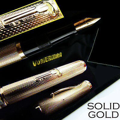 Watermans solid gold Full-overlay vintage Fountain Pen