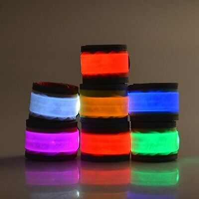 Outdoor Night Running Accessories LED Reflective Slap Bands Glow Bracelet