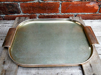 Vintage 1960s Metal Cocktail  Drinks Serving Tray Anodised Ware Mid Century